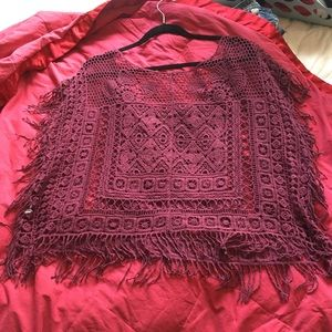 Tops - Lace maroon